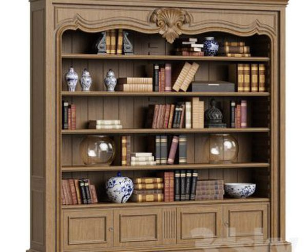 bookcase-3d-object